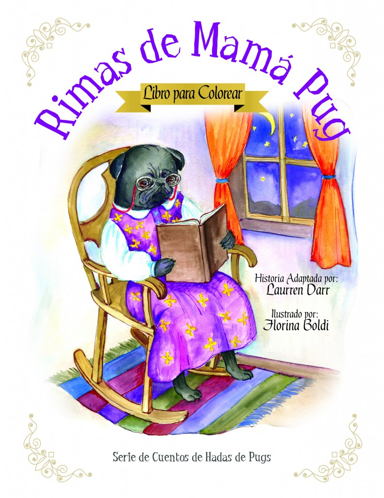 Rimas de Mamá Pug - Libro Para Colorear - Left Paw Press