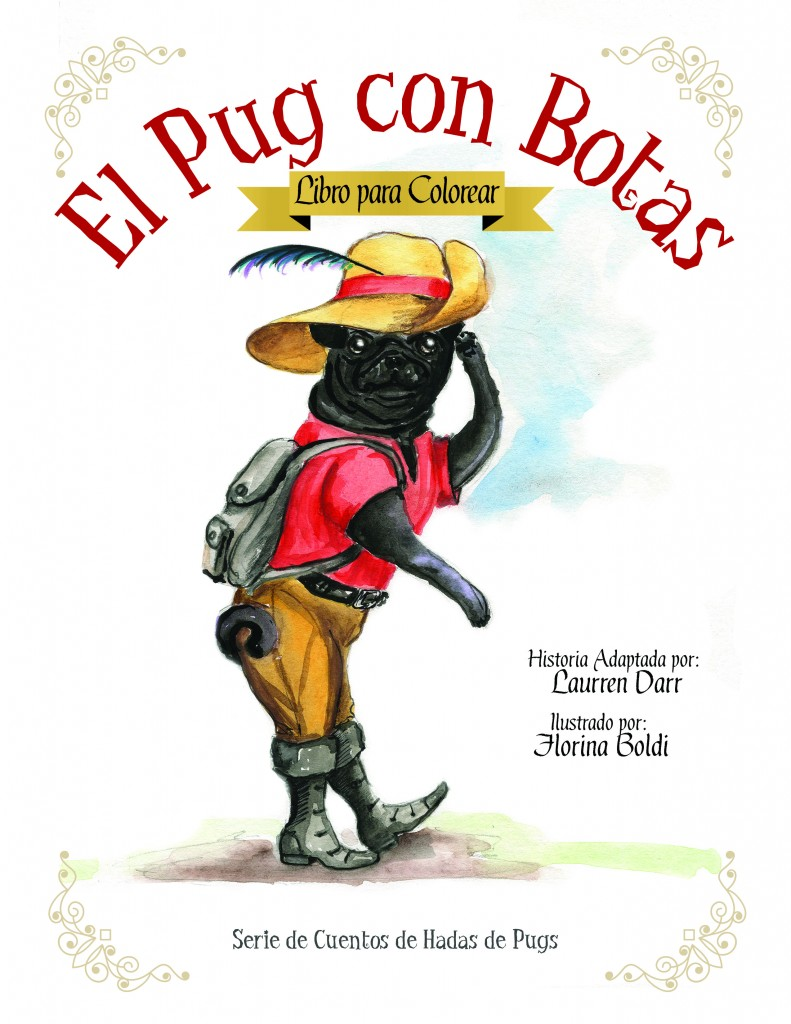 El Pug Con Botas - Libro Para Colorear - Left Paw Press